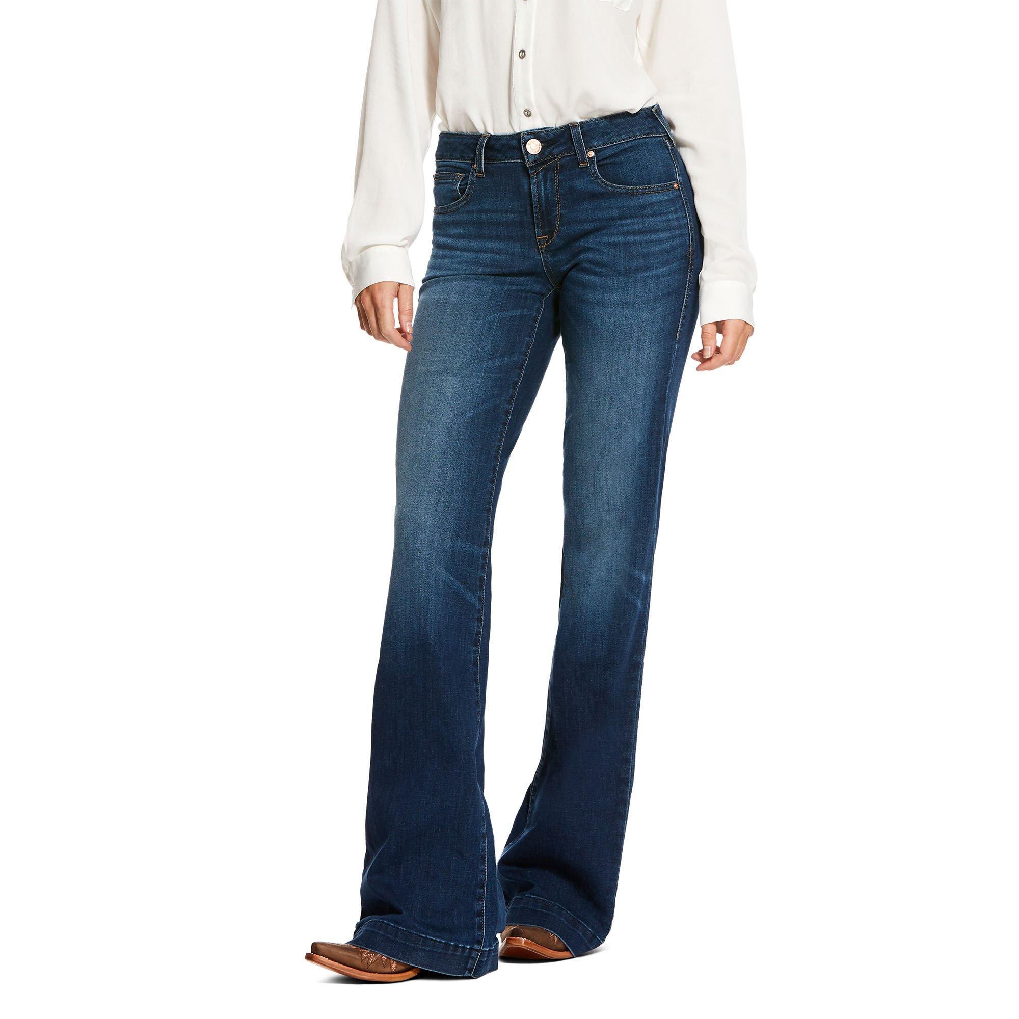 Trouser Mid Rise Stretch Kelsea Wide Leg Jean
