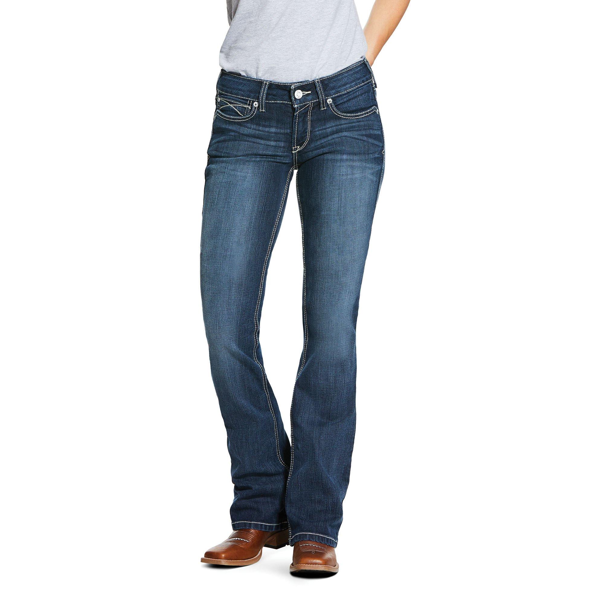 R.E.A.L. Mid Rise Arrow Fit Stretch Shayla Boot Cut Jean