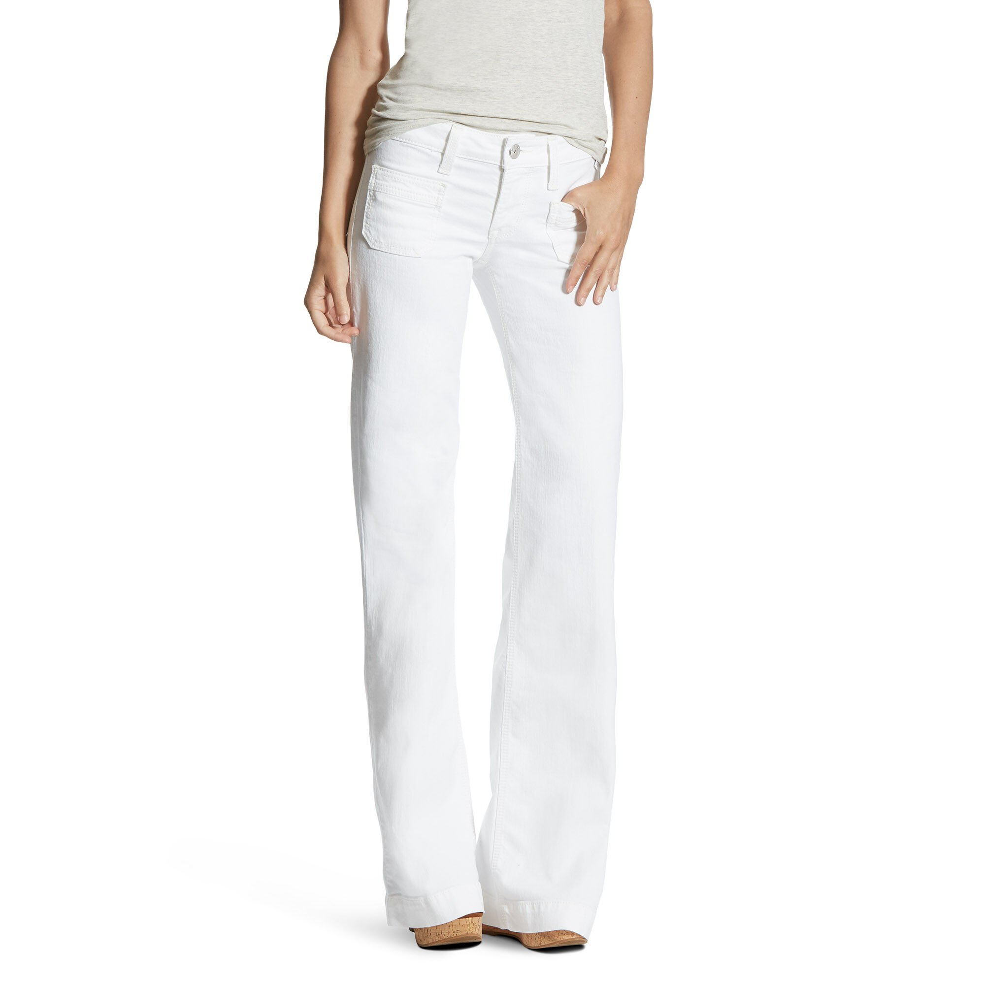 Dawn White Wide Leg Trouser Jean