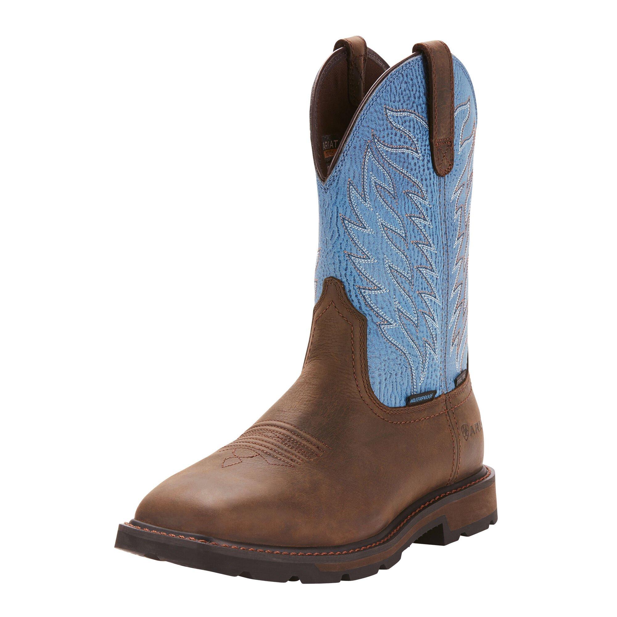 Groundbreaker Wide Square Toe Waterproof Steel Toe Work Boot