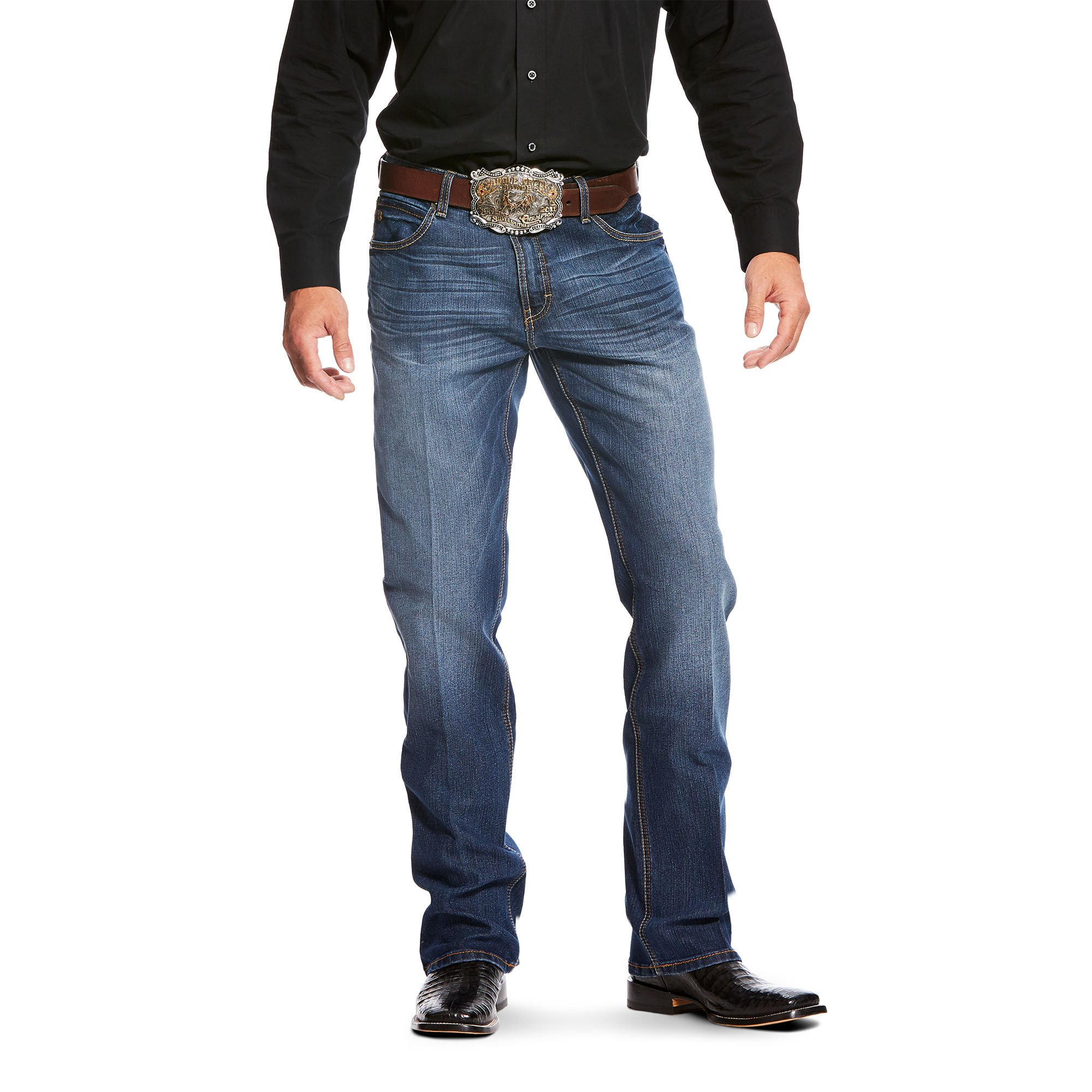 Relentless Relaxed Fit Stretch Double Stitch Boot Cut Jean