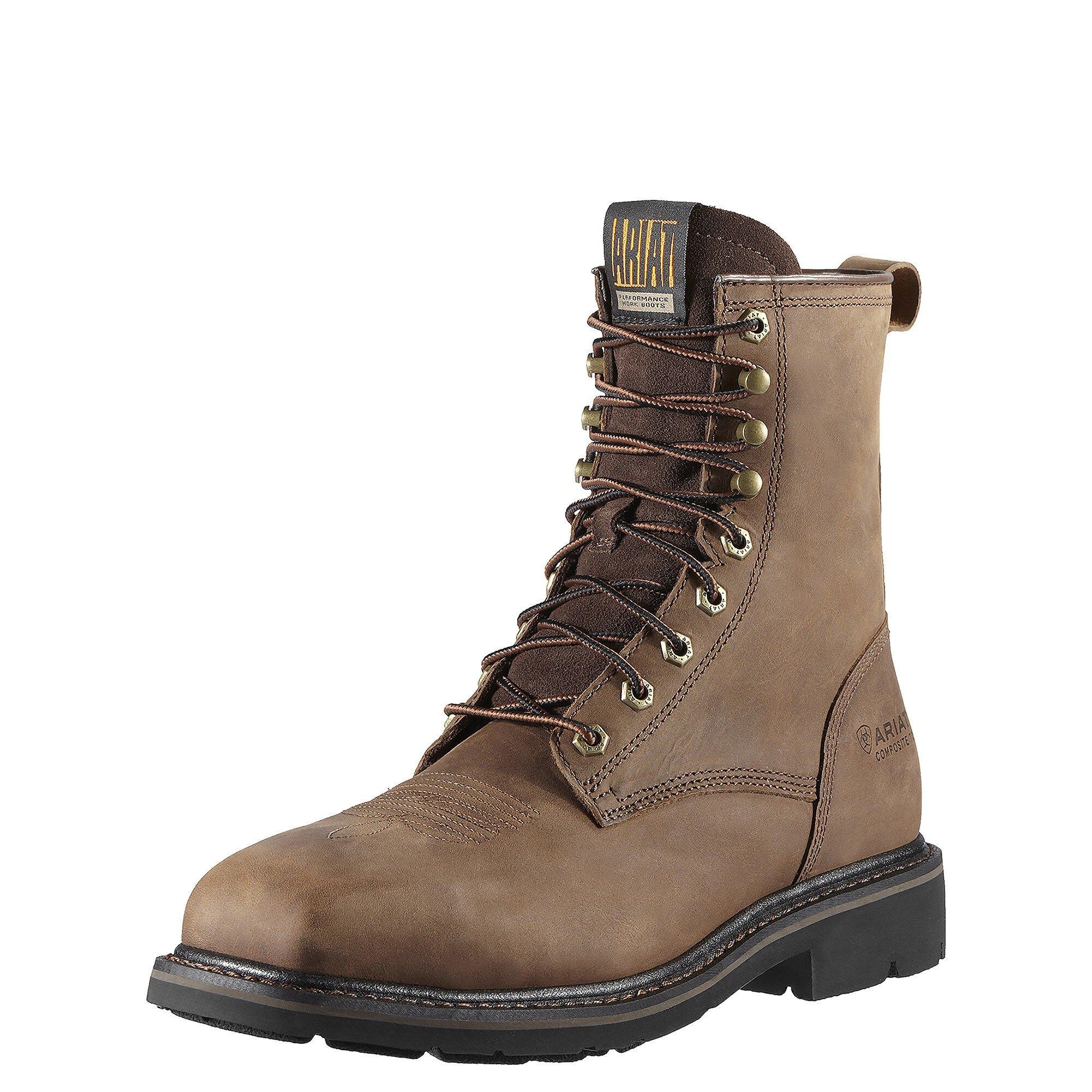 "Cascade 8"" Wide Square Toe Steel Toe Work Boot"