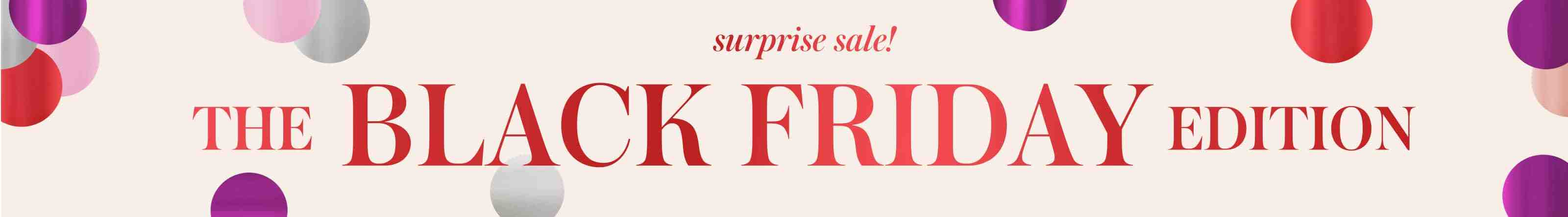 surprise sale! the black friday edition.