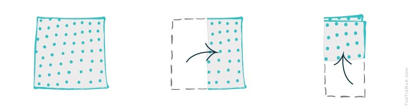How To Fold A Pocket Square - Lay the pocket square on a flat surface.