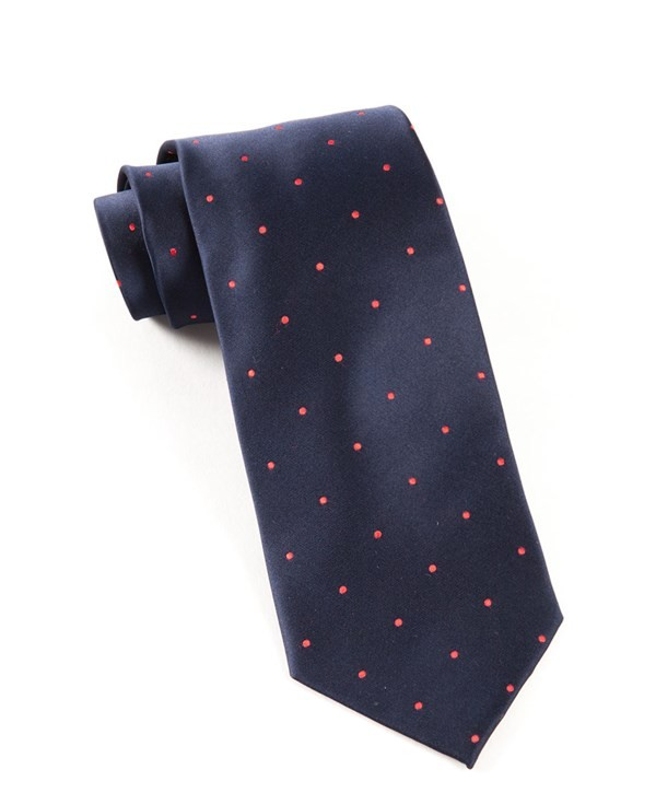 Satin Dot Navy Tie