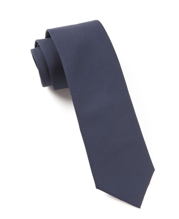 Solid Cotton Midnight Navy Tie