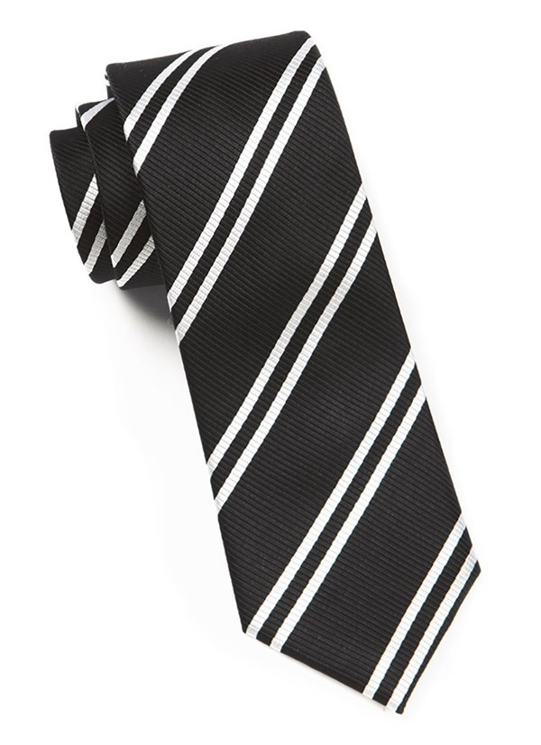 Double Stripe Black Tie