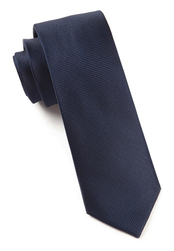Solid Texture Midnight Navy Tie