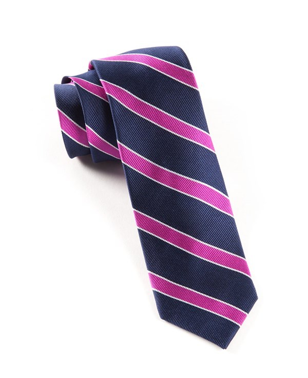 Honor Stripe Magenta Tie