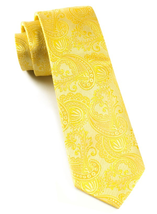 Twill Paisley Golds Tie