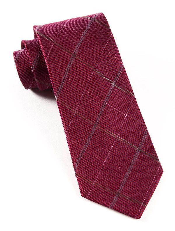 Sheridan Plaid Raspberry Tie