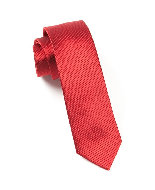 Skinny Solid Red Tie