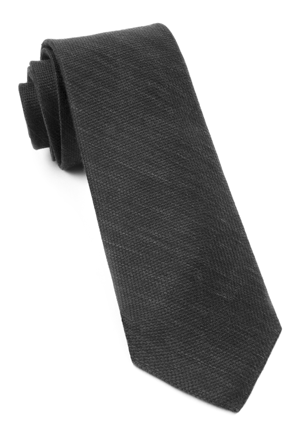 Festival Textured Solid Black Tie