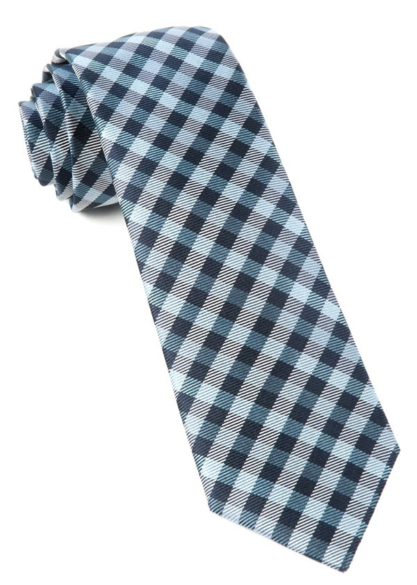 Polo Plaid Navy Tie