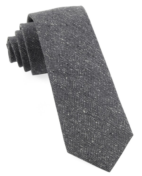 Threaded Zig-Zag Grey Tie