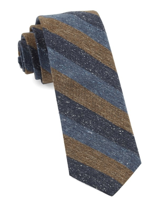Varios Stripe Brown Tie