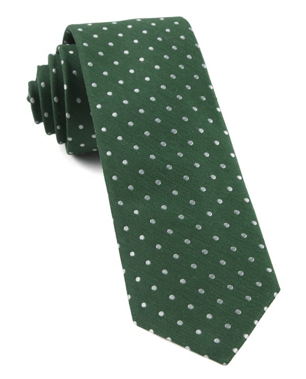 Dotted Dots Clover Green Tie