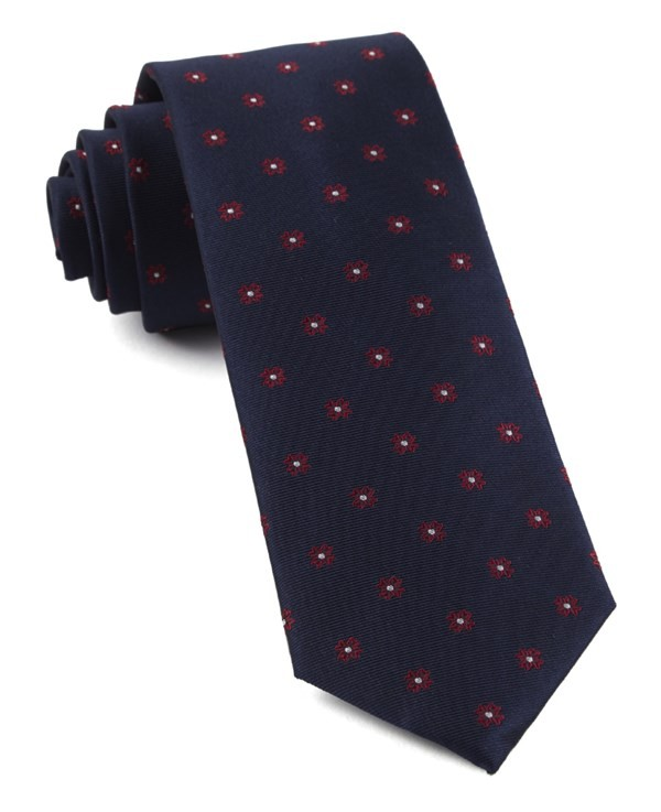 Primrose Flowers Red Tie