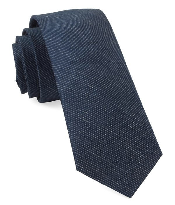 Fountain Solid True Navy Tie