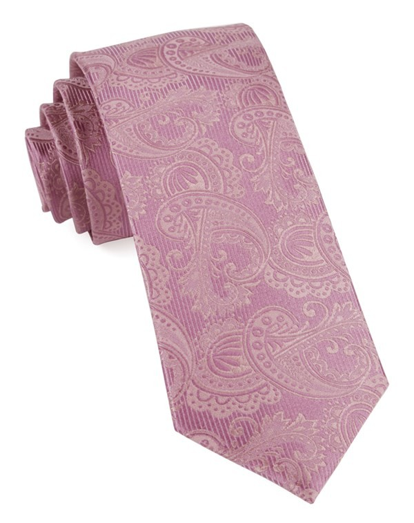 Twill Paisley Dusty Rose Tie