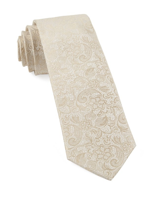 Ceremony Paisley Light Champagne Tie