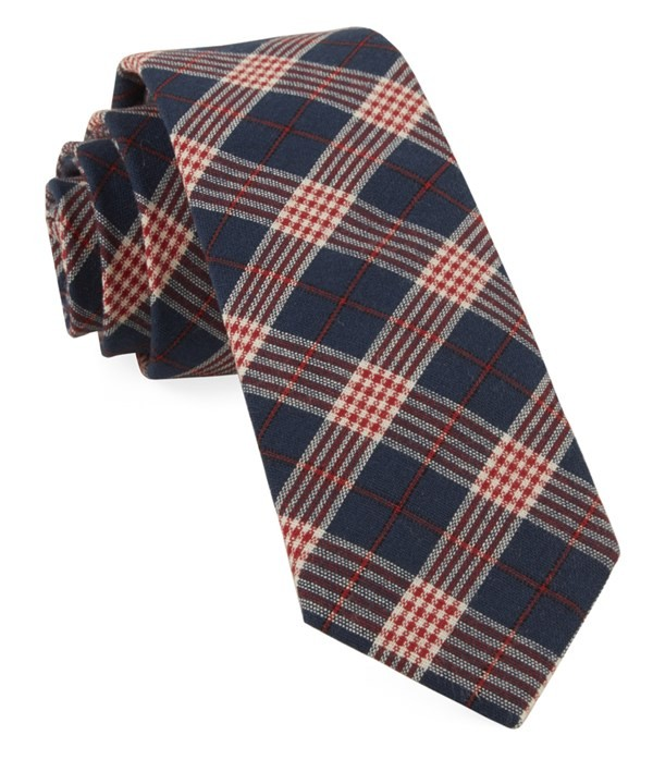 Newton Plaid Navy Tie