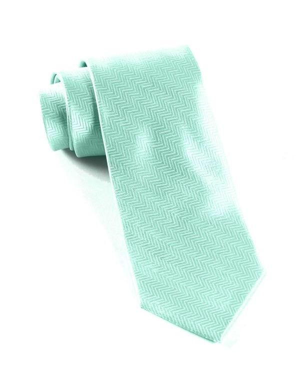 Herringbone Pool Blue Tie