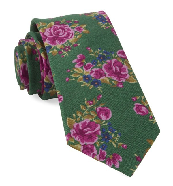 Hinterland Floral Kelly Green Tie
