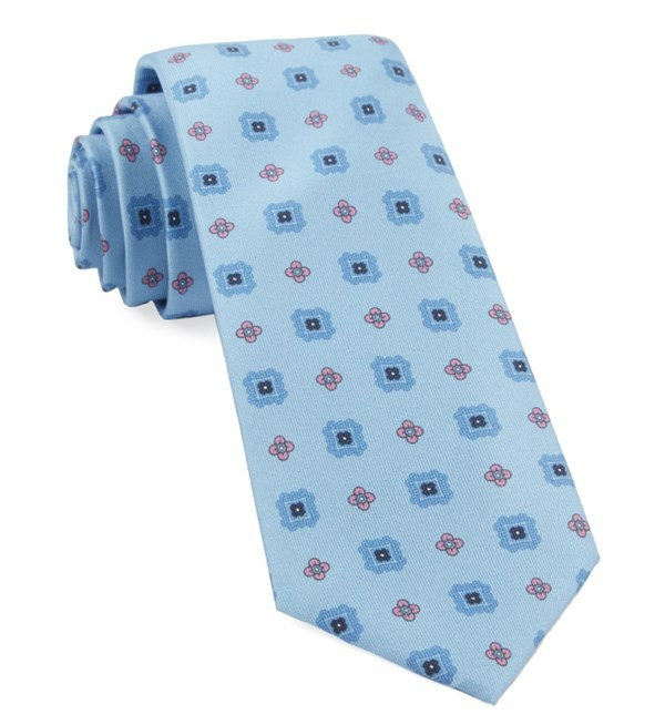 Wildflower Medallion Baby Blue Tie
