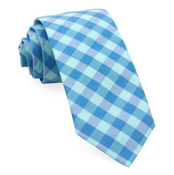 Old City Checks Spearmint Tie