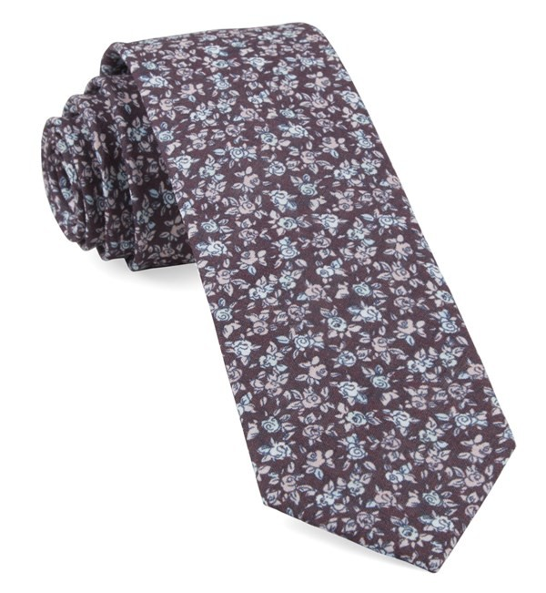 Bhldn Black Cherry Floral Tie