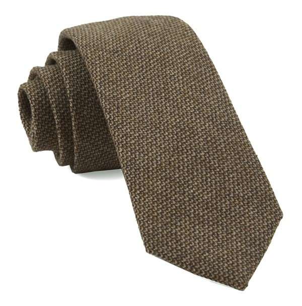 Pebble Top Solid Brown Tie