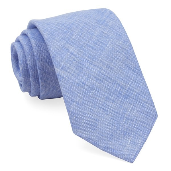 South End Solid Light Blue Tie