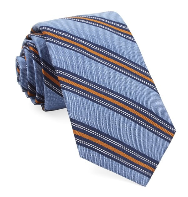 Rangel Stripe Light Blue Tie