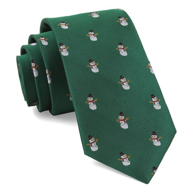 Snowman Goals Kelly Green Tie