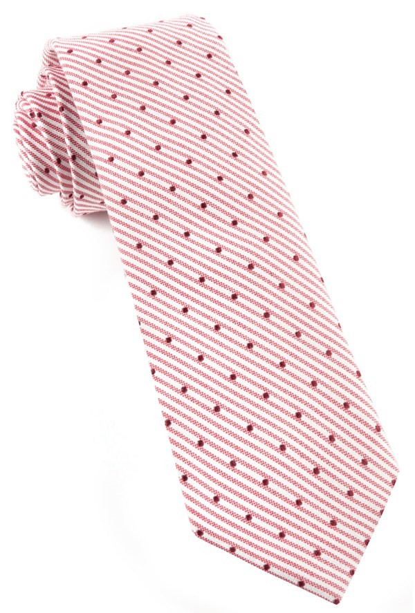 Down The Aisle Dots Red Tie
