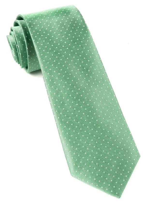 Mini Dots Mint Tie