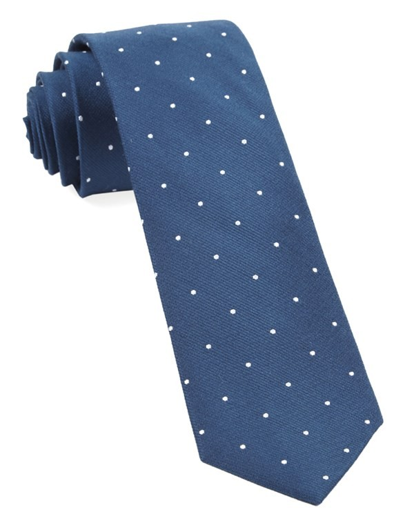 Dotted Report Serene Blue Tie