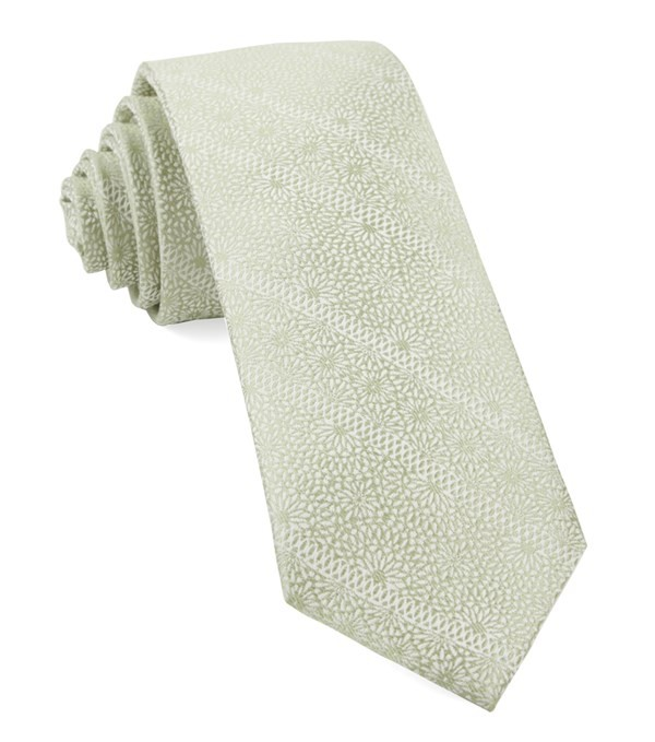 Wedded Lace Sage Green Tie