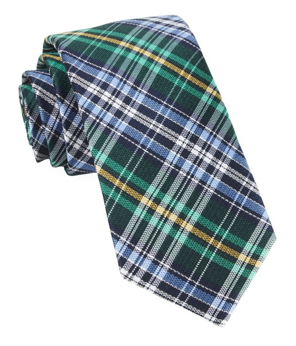 Motley Plaid Green Tie
