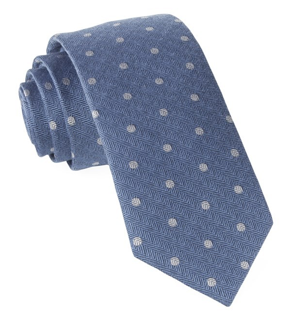 Dotted Hitch Light Blue Tie