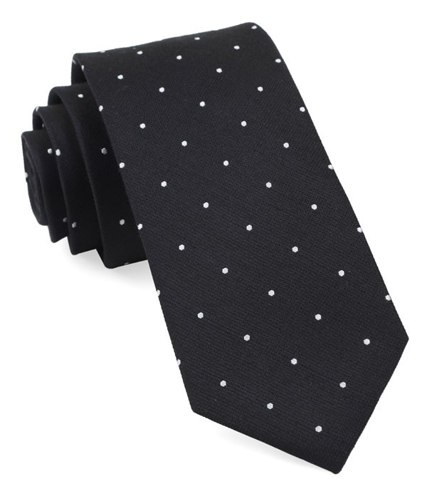 Dotted Report Black Tie