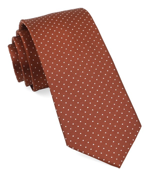 Mini Dots Copper Tie