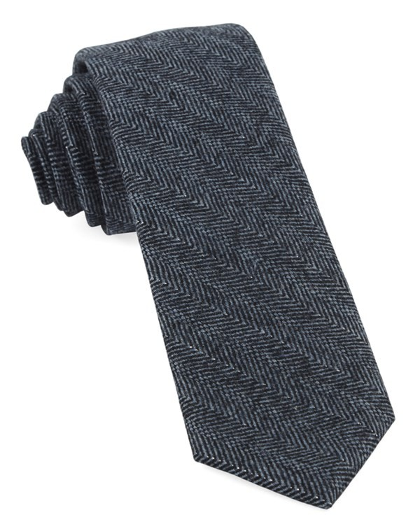 Blue Ridge Herringbone Midnight Navy Tie