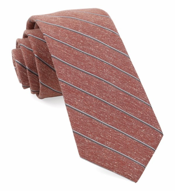 Pike Stripe Orange Tie
