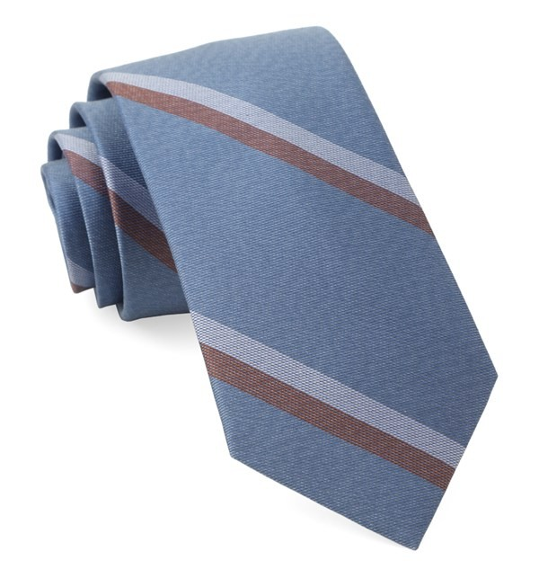 Slb Stripe Light Blue Tie