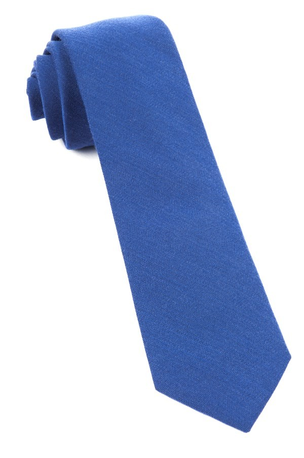 Solid Wool Classic Blue Tie