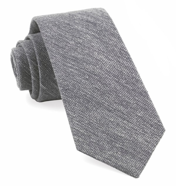 West Ridge Solid Grey Tie