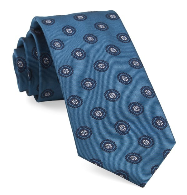 Counter Medallions Teal Tie