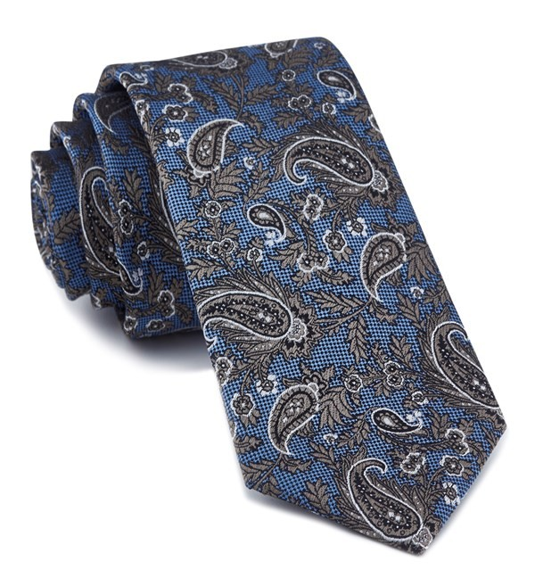 Concord Paisley Light Blue Tie